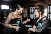 (L-R) Phoebe Waller-Bridge, winner of Best Performance by an Actress in a Television Series - Musical or Comedy and Helena Bonham Carter, winner of Outstanding Performance by an Ensemble in a Drama Series pose in the trophy room during the 26th Annual Screen Actors Guild Awards at The Shrine Auditorium on January 19, 2020 in Los Angeles, California. 721453