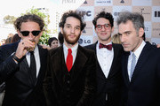 Producer Casey Neistat, director Josh Safdie, director Benny Safdie, and actor Ronald Bronstein attend the 2011 Film Independent Spirit Awards hosted by Jameson Irish Whiskey at Santa Monica Beach on February 26, 2011 in Santa Monica, California.