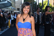 Miranda Tapsell arrives at the 27th Annual ARIA Awards 2013 at the Star on December 1, 2013 in Sydney, Australia.