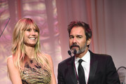 (L-R) Heidi Klum and Eric McCormack speak on stage at the 27th annual Elton John AIDS Foundation Academy Awards Viewing Party sponsored by IMDb and Neuro Drinks celebrating EJAF and the 91st Academy Awards on February 24, 2019 in West Hollywood, California.