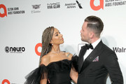 (L-R) Leona Lewis and Dennis Jauch attend the 28th Annual Elton John AIDS Foundation Academy Awards Viewing Party sponsored by IMDb, Neuro Drinks and Walmart on February 09, 2020 in West Hollywood, California.