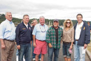 John Venditto, Oyster Bay Town Supervisor, Ed Mangano, Nassau County Executive, Neil Bergin, Oyster Bay Commissioner of Environmental Resources, Alexis Roderick and  New York State Governor Mario Cuomo  attend Friends Of The Bay Cleanup at Theodore Roosevelt Park on September 21, 2013 in Oyster Bay, New York.