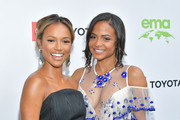 (L-R) Karrueche Tran and Christina Milian attend the 29th Annual Environmental Media Awardsat Montage Beverly Hills on May 30, 2019 in Beverly Hills, California.