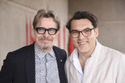 Gary Oldman and Joe Wright attend the 29th Annual Palm Springs International Film Festival Talking Pictures Screenings on January 3, 2018 in Palm Springs, California.