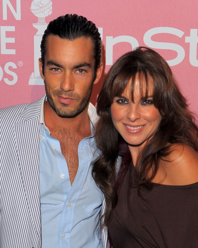 Kate del Castillo with ex-husband Aaron Diaz