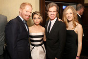 (L-R) Actors Jesse Tyler Ferguson, Sarah Hyland, William H. Macy and Georgia Macy attend the 2nd Annual unite4:humanity presented by ALCATEL ONETOUCH at the Beverly Hilton Hotel on February 19, 2015 in Los Angeles, California.
