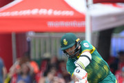 Imran Tahir of the Proteas bpwled during the 2nd Momentum ODI match between South Africa and India at SuperSport Park on February 04, 2018 in Pretoria, South Africa.