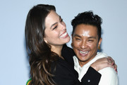 Model Ashley Graham (L) and designer Prabal Gurung attend the 3.1 Phillip Lim Fashion Show during New York Fashion Week at Center 415 on February 11, 2019 in New York City.