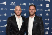 Gus Kenworthy (L) and Matthew Wilkas attend the 30th Annual GLAAD Media Awards New York  at New York Hilton Midtown on May 04, 2019 in New York City.