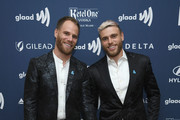 Matthew Wilkas (L) and Gus Kenworthy attend the 30th Annual GLAAD Media Awards New York  at New York Hilton Midtown on May 04, 2019 in New York City.