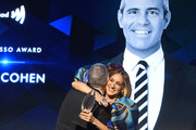 Sarah Jessica Parker presents an award to Andy Cohen onstage during the 30th Annual GLAAD Media Awards New York at New York Hilton Midtown on May 04, 2019 in New York City.