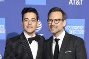 Rami Malek (L) and Christian Slater attend the 30th Annual Palm Springs International Film Festival Film Awards Gala at Palm Springs Convention Center on January 3, 2019 in Palm Springs, California.