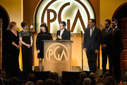 Amy Sherman-Palladino and Daniel Palladino accept The Danny Thomas Award for Outstanding Producer of Episodic Television ? Comedy, for 'The Marvelous Mrs. Maisel' onstage during the 30th annual Producers Guild Awards at The Beverly Hilton Hotel on January 19, 2019 in Beverly Hills, California.
