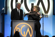 (L-R) Ted Danson and Mary Steenburgen present the 2019 Stanley Kramer Award to Jane Fonda onstage during the 30th annual Producers Guild Awards at The Beverly Hilton Hotel on January 19, 2019 in Beverly Hills, California.
