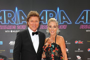 Richard Wilkins and Virginia Burmeister arrive for the 31st Annual ARIA Awards 2017 at The Star on November 28, 2017 in Sydney, Australia.