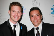 Filmmaker and Bricker Humanitarian Award recipient Gregg Helvey (L) and actor Benito Martinez attend the press room during the 31st Annual College Television Awards at Renaissance Hollywood Hotel on April 10, 2010 in Hollywood, California.