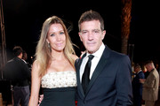 (L-R) Nicole Kimpel and Antonio Banderas attend the 31st Annual Palm Springs International Film Festival Film Awards Gala at Palm Springs Convention Center on January 02, 2020 in Palm Springs, California.
