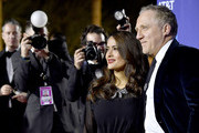 (L-R) Salma Hayek and François-Henri Pinault attend the 31st Annual Palm Springs International Film Festival Film Awards Gala at Palm Springs Convention Center on January 02, 2020 in Palm Springs, California.