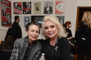 Laurie Anderson and Debbie Harry pose backstage during the 32nd Annual Tibet House US Benefit Concert & Gala at Carnegie Hall on February 07, 2019 in New York City.