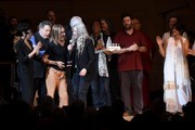 (L-R) Bettye LaVette, Iggy Pop, Philip Glass and Patti Smith perform on stage during the 33nd Annual Tibet House US Benefit Concert & Gala on February 26, 2020 in New York City.