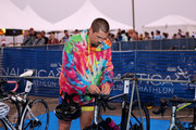 Steve Howey prepares for the 33rd Annual Nautica Malibu Triathlon Presented By Bank Of America on September 15, 2019 in Malibu, California.