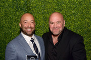 Honoree Brad Slater (L) and Dana White attend the 34th Annual Cedars-Sinai Sports Spectacular at The Compound on July 15, 2019 in Inglewood, California.