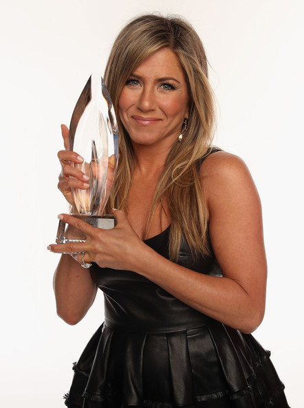 Actress Jennifer Aniston poses for a portrait during the 39th Annual People's Choice Awards at Nokia Theatre L.A. Live on January 9, 2013 in Los Angeles, California.