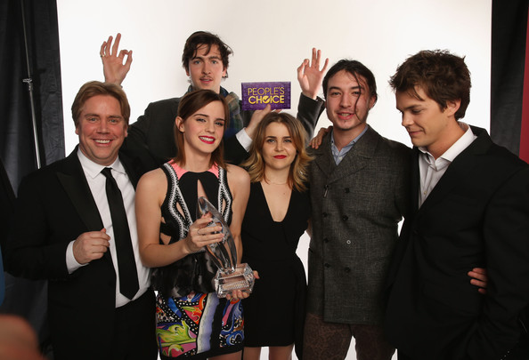 Director Stephen Chbosky and actors Emma Watson, Nicholas Braun, Mae Whitman, Ezra Miller and Johnny Simmons pose for a portrait during the 39th Annual People's Choice Awards at Nokia Theatre L.A. Live on January 9, 2013 in Los Angeles, California.
