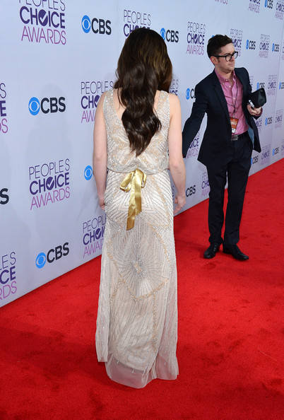 Actress Ashley Rickards (fashion detail) attends the 39th Annual People's Choice Awards at Nokia Theatre L.A. Live on January 9, 2013 in Los Angeles, California.