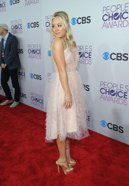 Host Kaley Cuoco attends the 34th Annual People's Choice Awards at Nokia Theatre L.A. Live on January 9, 2013 in Los Angeles, California.