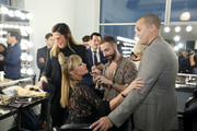 Sonja Morgan and Nigel Barker prepare backstage during the The 3rd Annual Blue Jacket Fashion Show Benefitting The Prostate Cancer Foundation at Pier 59 Studios on February 7, 2019 in New York City, NY.