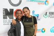 PJ Hubbard (L) and Laya Deleon Hayes attend the 3rd Annual Say NO Bullying Festival at Griffith Park on October 14, 2018 in Los Angeles, California.