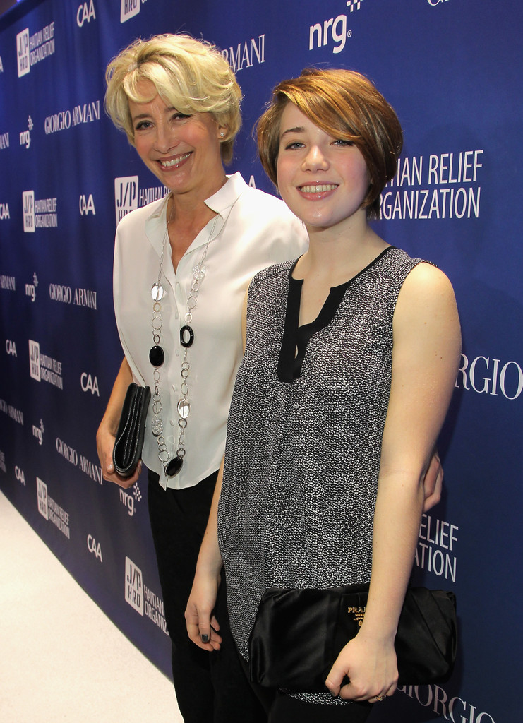 Photo of Emma Thompson & her Daughter  Gaia Romilly Wise