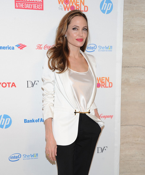 Actress Angelina Jolie attends the 3rd Annual Women in the World