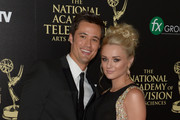Actors Matthew Atkinson (L) and Hunter King attend The 41st Annual Daytime Emmy Awards at The Beverly Hilton Hotel on June 22, 2014 in Beverly Hills, California.
