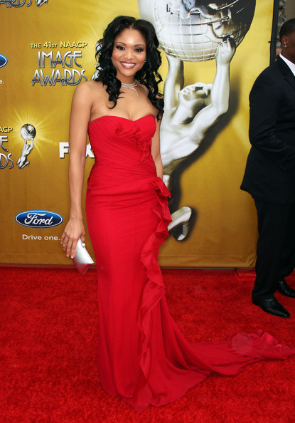 Actress Erica Hubbard arrives at the 41st NAACP Image awards held at The Shrine Auditorium on February 26, 2010 in Los Angeles, California.