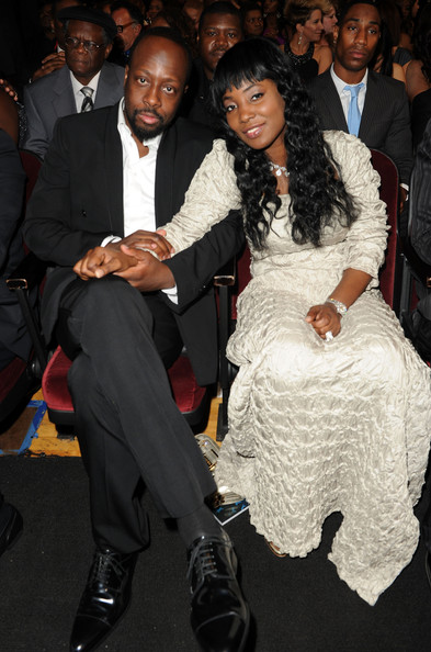 Musician Wyclef Jean and wife Marie Claudinette Jean during the 41st NAACP Image awards held at The Shrine Auditorium on February 26, 2010 in Los Angeles, California.