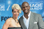 Rebecca Crews (L) and actor Terry Crews arrive at the 42nd NAACP Image Awards held at The Shrine Auditorium on March 4, 2011 in Los Angeles, California.