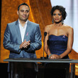 Russell Peters and Kimberly Elise