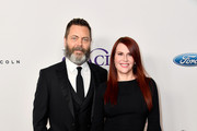 Nick Offerman (L) and Megan Mullally attend the 43rd Annual Gracie Awards at the Beverly Wilshire Four Seasons Hotel on May 22, 2018 in Beverly Hills, California.