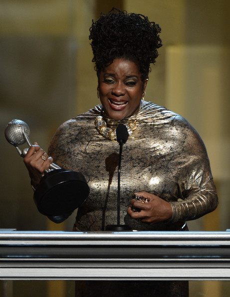 "Actress Loretta Devine accepts the Outstanding Supporting Actress in A Drama Series award for ""Grey's Anatomy"" onstage during the 44th NAACP Image Awards at The Shrine Auditorium on February 1, 2013 in Los Angeles, California."