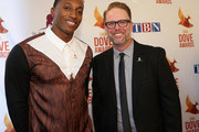 LeCrae and Bart Millard arrive at the 45th Annual Dove Awards at Allen Arena, Lipscomb University on October 7, 2014 in Nashville, Tennessee.