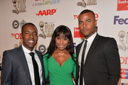 Actors Eric Keyes III,  Redaric Williams and Angell Conwell attend the 45th NAACP Awards Non-Televised Awards Ceremony at the Pasadena Civic Auditorium on February 21, 2014 in Pasadena, California.