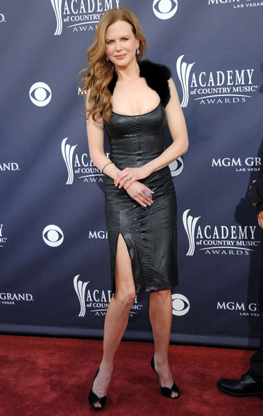 Actress Nicole Kidman arrives at the 46th Annual Academy Of Country Music Awards RAM Red Carpet held at the MGM Grand Garden Arena on April 3, 2011 in Las Vegas, Nevada.