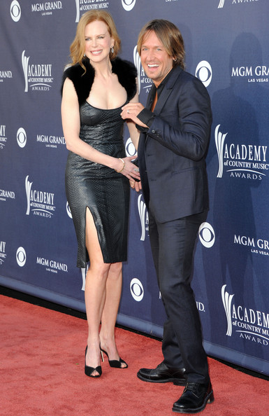 Actress Nicole Kidman and singer Keith Urban arrive at the 46th Annual Academy Of Country Music Awards RAM Red Carpet held at the MGM Grand Garden Arena on April 3, 2011 in Las Vegas, Nevada.