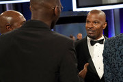 Mahershala Ali (L) and Jamie Foxx attends the 47th AFI Life Achievement Award honoring Denzel Washington at Dolby Theatre on June 06, 2019 in Hollywood, California. (Photo by Erik Voake/Getty Images for WarnerMedia) 610530