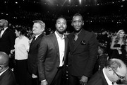Image has been shot in black and white. Color version not available.) (L-R) Michael B. Jordan and Mahershala Ali attend the 47th AFI Life Achievement Award honoring Denzel Washington at Dolby Theatre on June 06, 2019 in Hollywood, California. (Photo by Charley Gallay/Getty Images for WarnerMedia) 610288