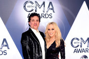 President and CEO of the Big Machine Label Group Scott Borchetta and Senior Vice President of Creative at Big Machine Label Group Sandi Spika Borchetta attend the 49th annual CMA Awards at the Bridgestone Arena on November 4, 2015 in Nashville, Tennessee.