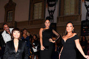 (L-R) Jeannie Mai,  Tamera Mowry and Adrienne Houghton attend the 49th NAACP Image Awards at Pasadena Civic Auditorium on January 15, 2018 in Pasadena, California.