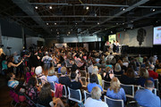 """A general view of the atmosphere during the """"Geena & Freinds"""" panel at the 4th Annual Bentonville Film Festival - Day 5 on May 5, 2018 in Bentonville, Arkansas."""
